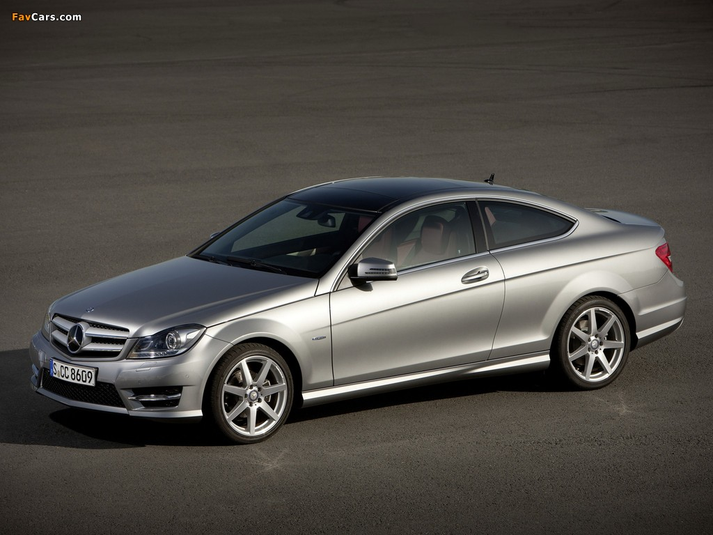 Mercedes-Benz C 250 Coupe (C204) 2011 wallpapers (1024 x 768)