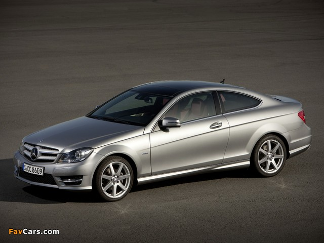 Mercedes-Benz C 250 Coupe (C204) 2011 wallpapers (640 x 480)