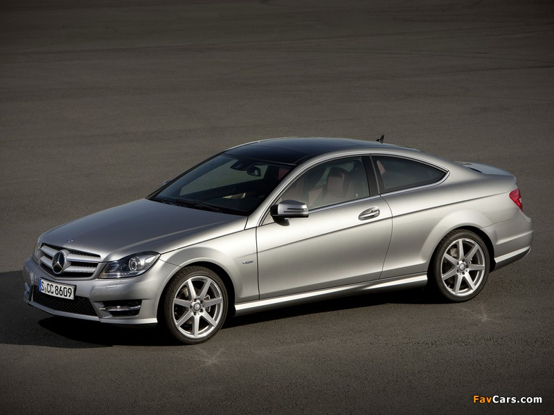 Mercedes-Benz C 250 Coupe (C204) 2011 wallpapers (800 x 600)