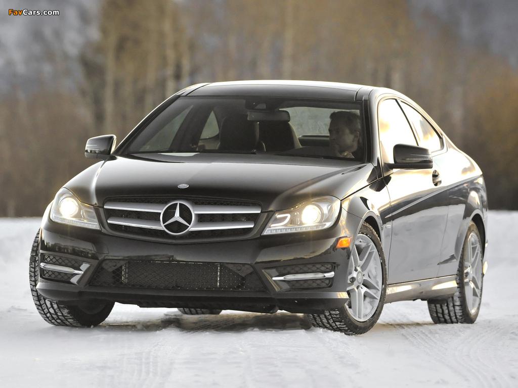 Mercedes-Benz C 350 4MATIC Coupe US-spec (C204) 2011 wallpapers (1024 x 768)