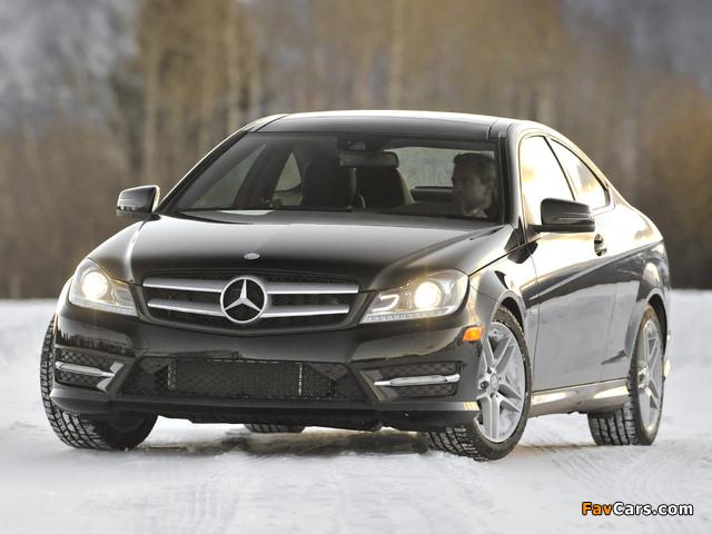 Mercedes-Benz C 350 4MATIC Coupe US-spec (C204) 2011 wallpapers (640 x 480)