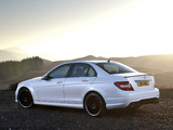 Mercedes-Benz C 63 AMG UK-spec (W204) 2011 wallpapers