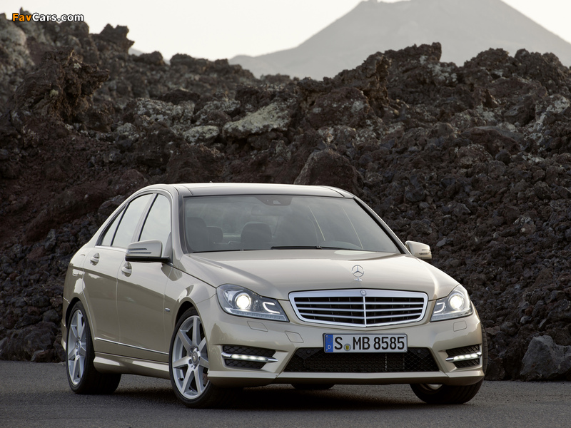 Mercedes-Benz C 350 AMG Sports Package (W204) 2011 wallpapers (800 x 600)