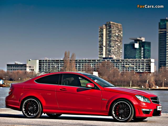 Mercedes-Benz C 63 AMG Coupe Austria Edition (C204) 2012 wallpapers (640 x 480)