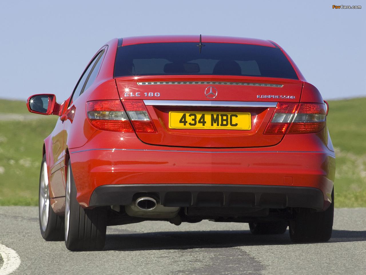 Mercedes-Benz CLC 180 Kompressor UK-spec 2008–11 pictures (1280 x 960)