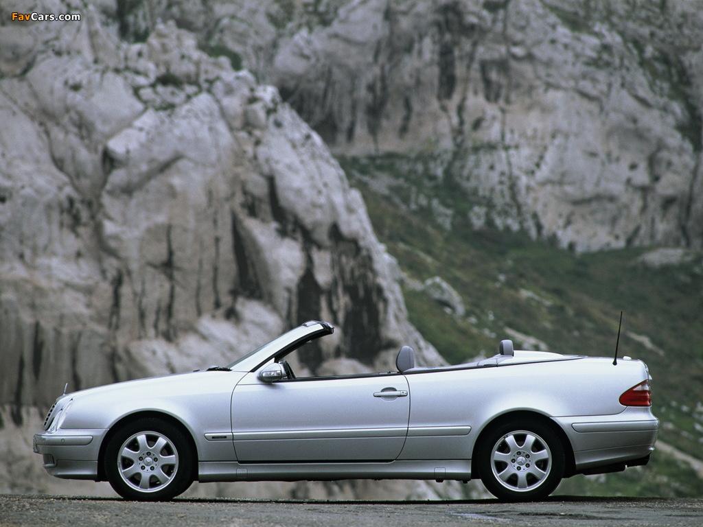 Images of Mercedes-Benz CLK 320 Cabrio (A208) 1998–2002 (1024 x 768)