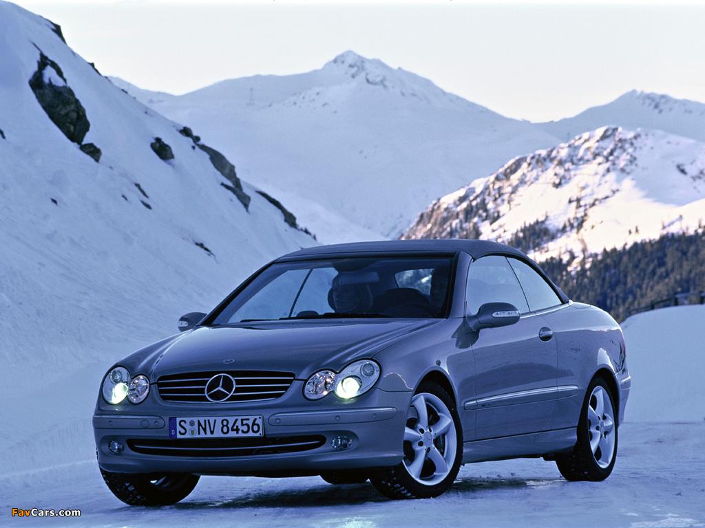 Images of Mercedes-Benz CLK 500 Cabrio (A209) 2003–05 (1024 x 768)