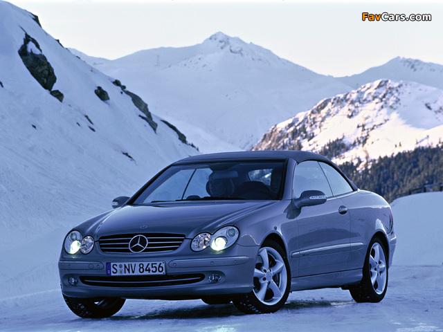Images of Mercedes-Benz CLK 500 Cabrio (A209) 2003–05 (640 x 480)