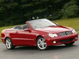 Images of Mercedes-Benz CLK 350 Convertible US-spec (A209) 2005–10