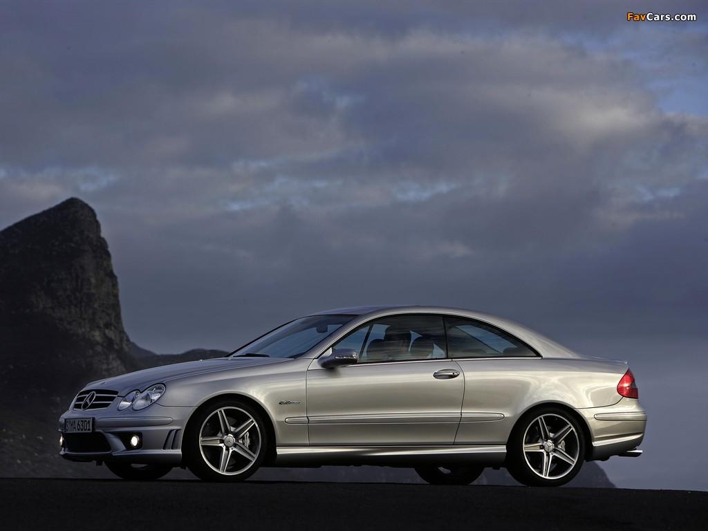 Images of Mercedes-Benz CLK 63 AMG (C209) 2006–09 (1024 x 768)