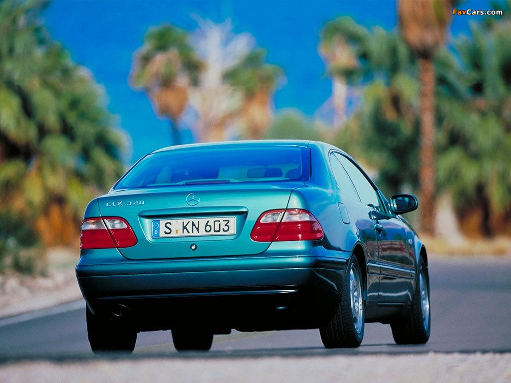 Mercedes-Benz CLK 320 (C208) 1997–2002 pictures (1024 x 768)