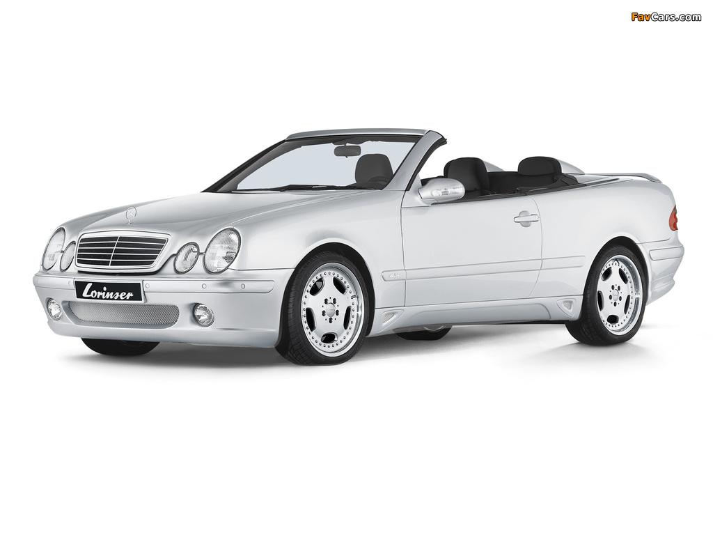 Lorinser Mercedes-Benz CLK-Klasse Cabrio (A208) 1998–2002 photos (1024 x 768)