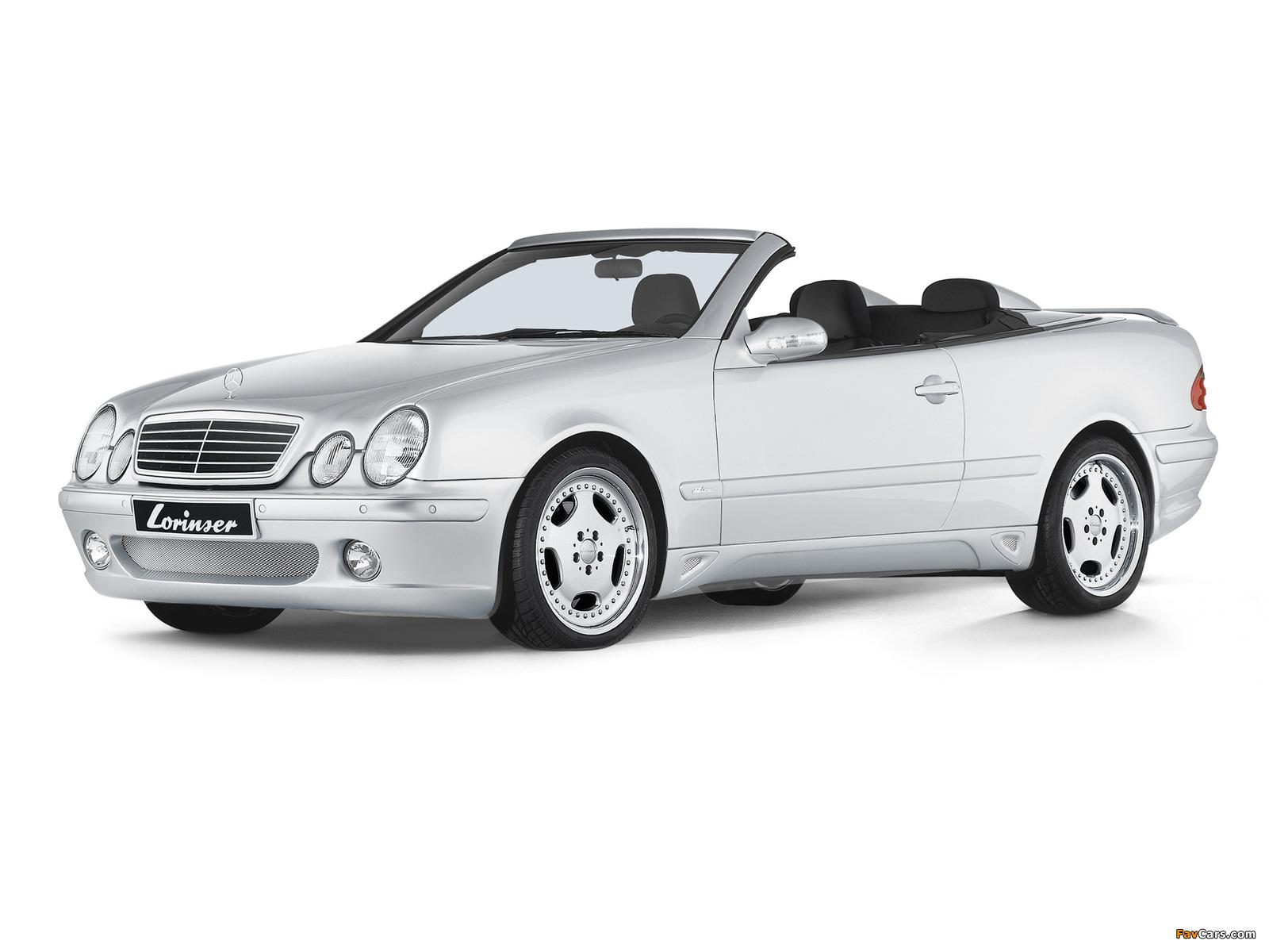Lorinser Mercedes-Benz CLK-Klasse Cabrio (A208) 1998–2002 photos (1600 x 1200)