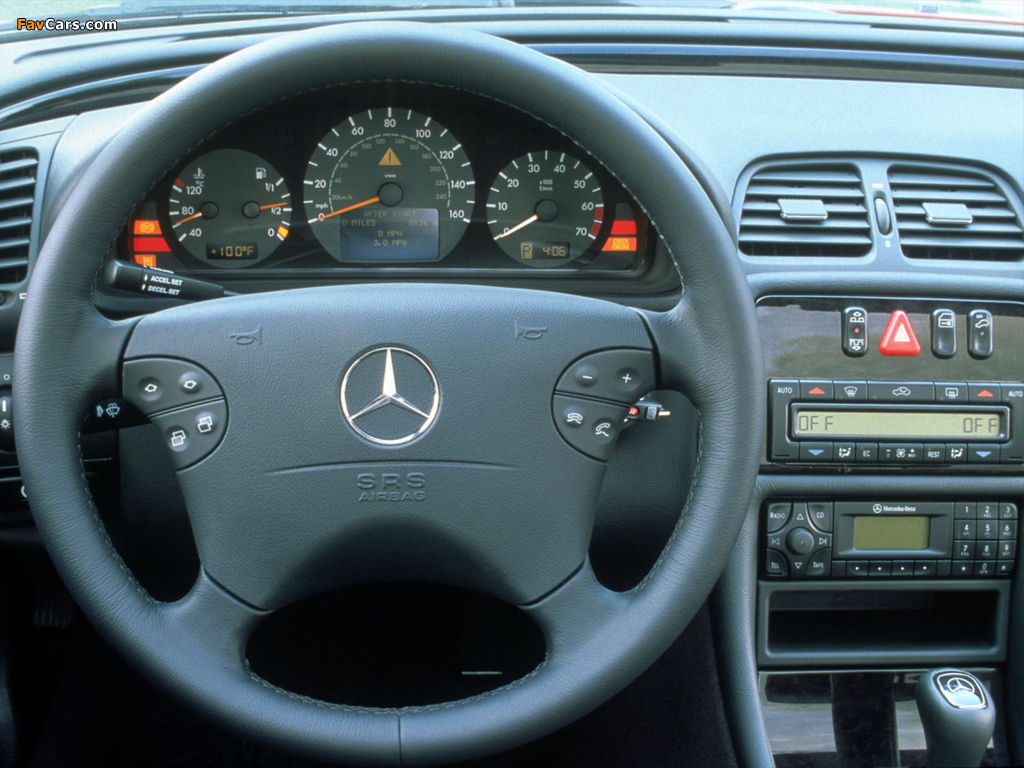 Mercedes-Benz CLK 430 Cabrio US-spec (A208) 1998–2002 wallpapers (1024 x 768)
