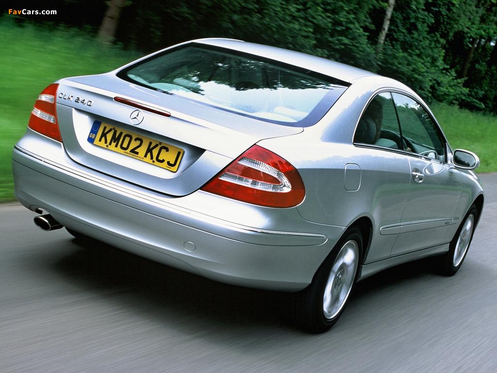 Mercedes-Benz CLK 240 UK-spec (C209) 2002–05 images (1024 x 768)