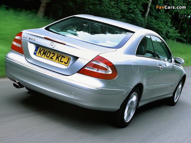 Mercedes-Benz CLK 240 UK-spec (C209) 2002–05 images (640 x 480)