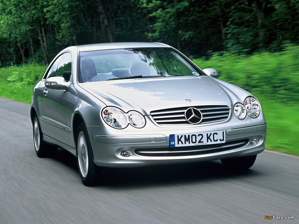 Mercedes-Benz CLK 240 UK-spec (C209) 2002–05 photos (1024 x 768)