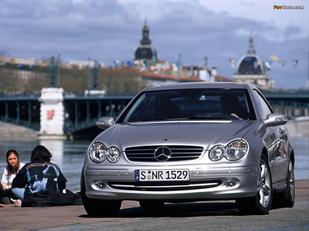 Mercedes-Benz CLK 500 (C209) 2002–05 wallpapers (1024 x 768)