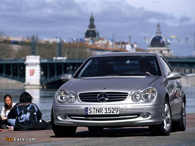 Mercedes-Benz CLK 500 (C209) 2002–05 wallpapers (640 x 480)