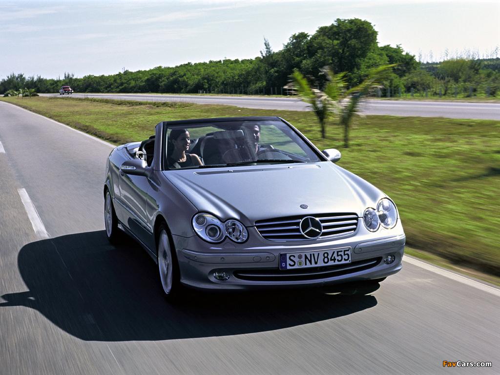 Mercedes-Benz CLK 240 Cabrio (A209) 2003–05 images (1024 x 768)