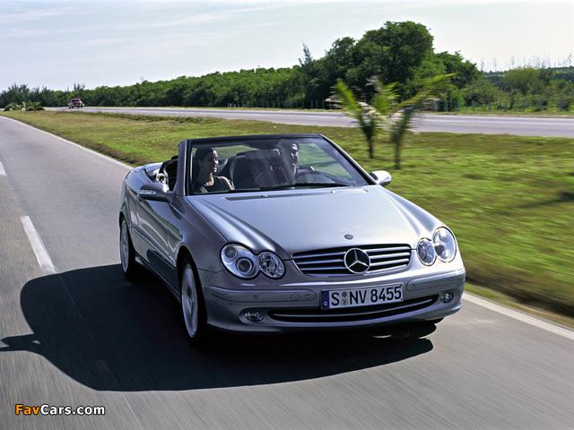 Mercedes-Benz CLK 240 Cabrio (A209) 2003–05 images (640 x 480)