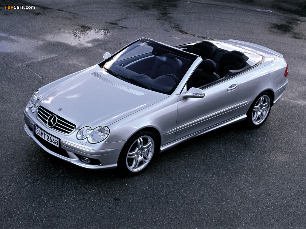 Mercedes-Benz CLK 55 AMG Cabrio (A209) 2003–05 images (1024 x 768)