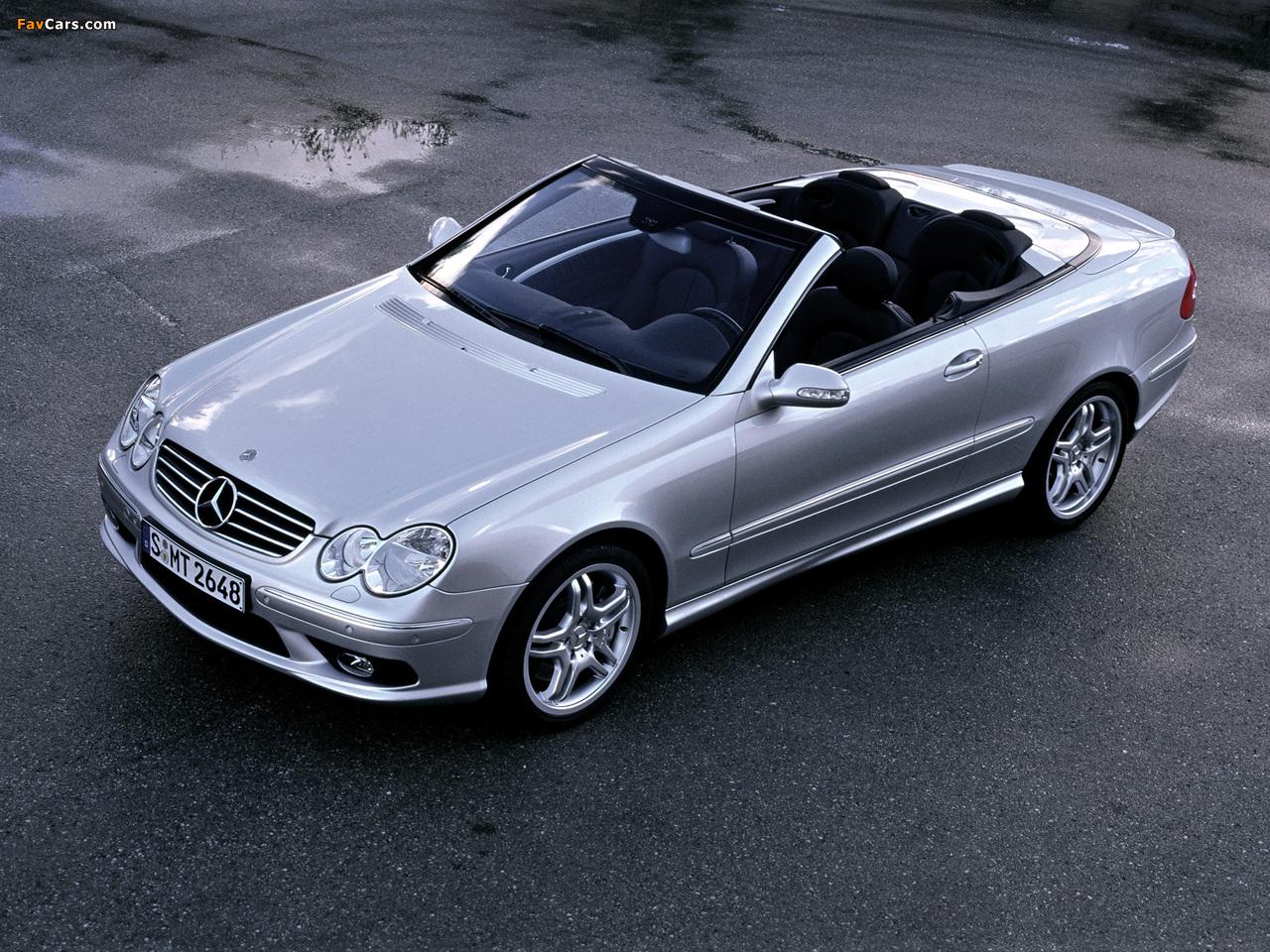 Mercedes-Benz CLK 55 AMG Cabrio (A209) 2003–05 images (1280 x 960)