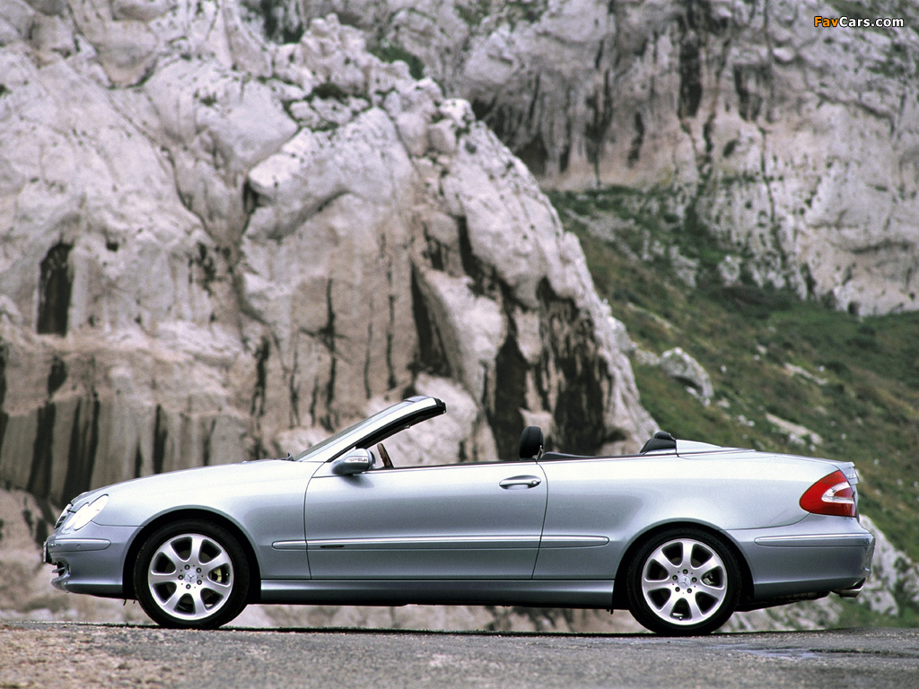 Mercedes-Benz CLK 240 Cabrio (A209) 2003–05 photos (1024 x 768)