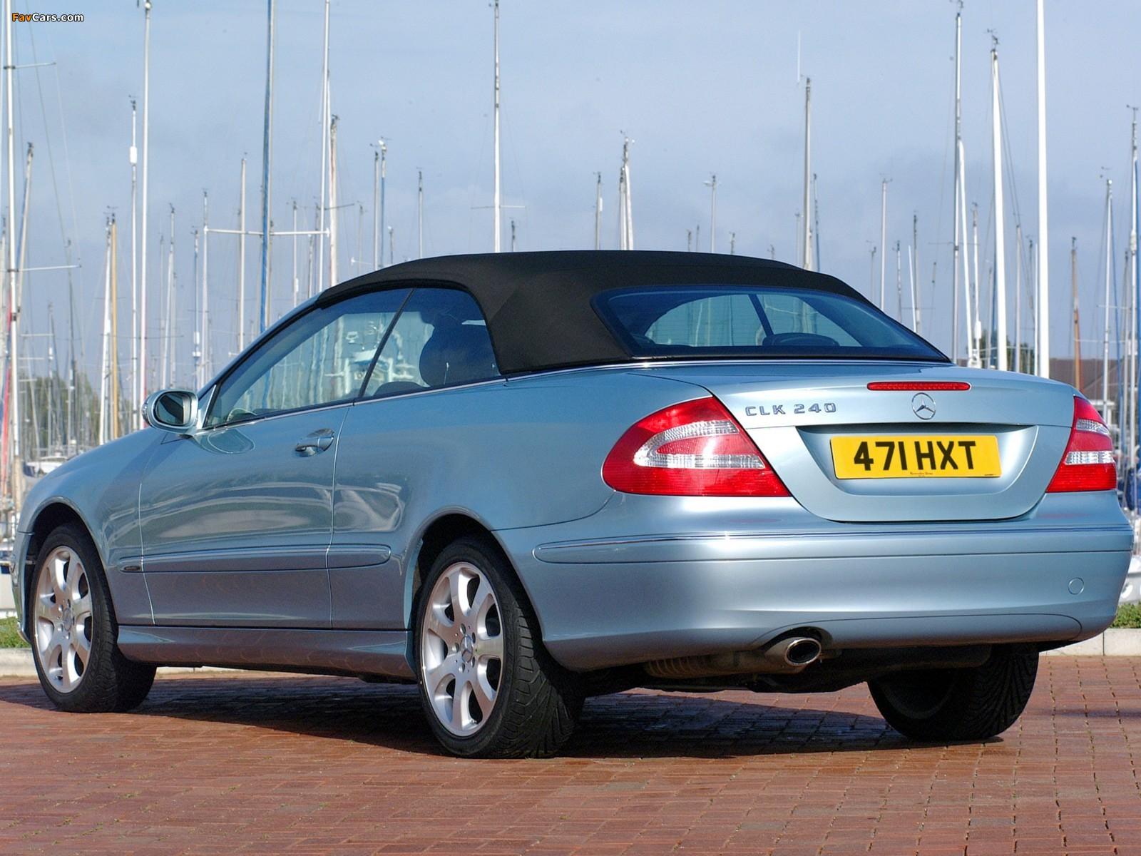 Mercedes-Benz CLK 240 Cabrio UK-spec (A209) 2003–05 pictures (1600 x 1200)