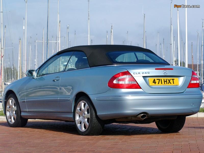 Mercedes-Benz CLK 240 Cabrio UK-spec (A209) 2003–05 pictures (800 x 600)