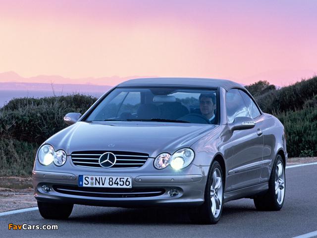 Mercedes-Benz CLK 500 Cabrio (A209) 2003–05 wallpapers (640 x 480)