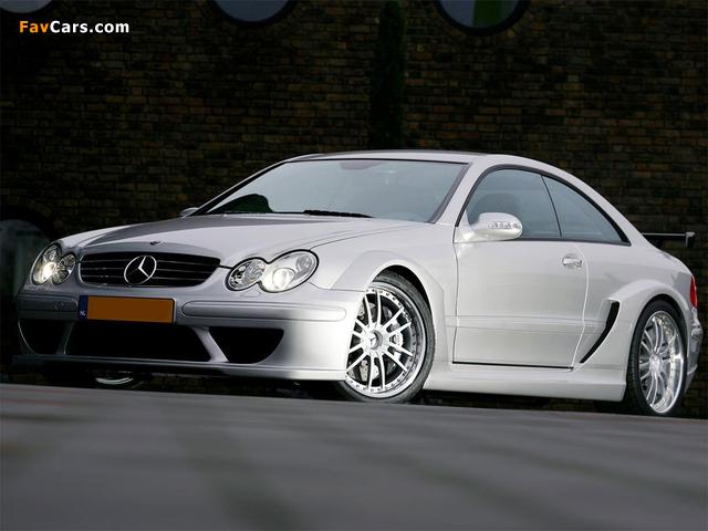 Mercedes-Benz CLK 55 AMG DTM Street Version (C209) 2004 wallpapers (640 x 480)
