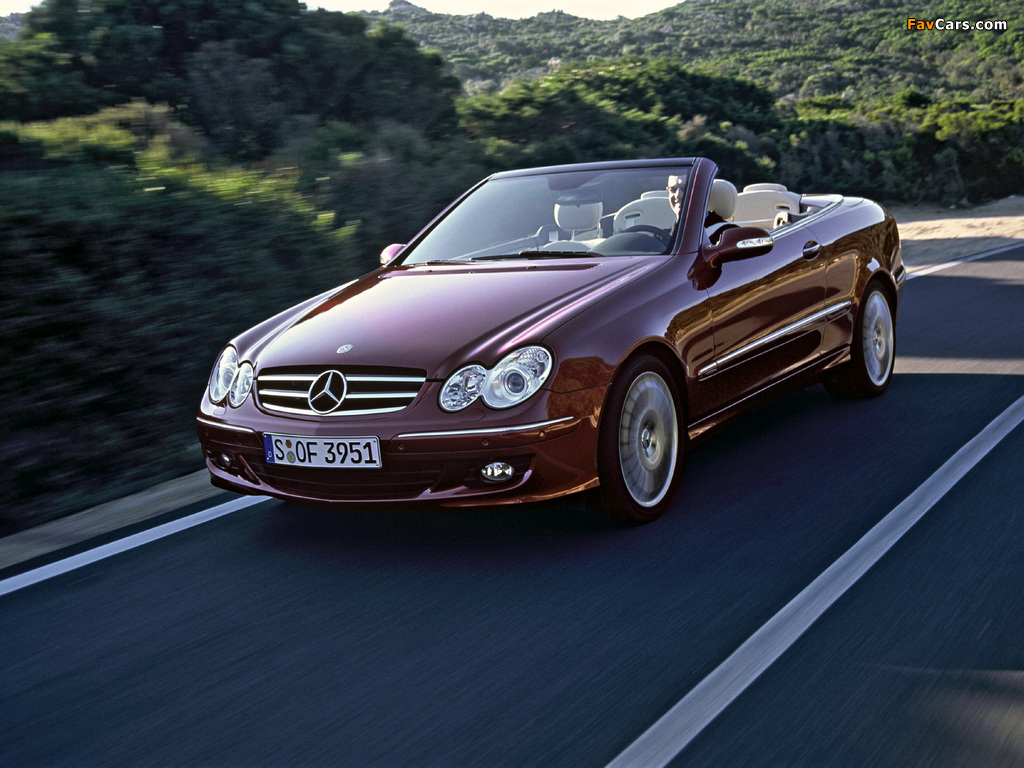 Mercedes-Benz CLK 320 CDI Cabrio (A209) 2005–10 images (1024 x 768)