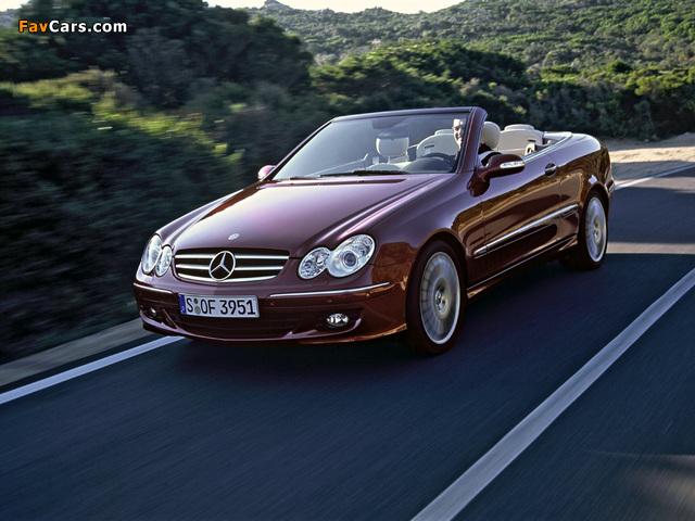 Mercedes-Benz CLK 320 CDI Cabrio (A209) 2005–10 images (640 x 480)