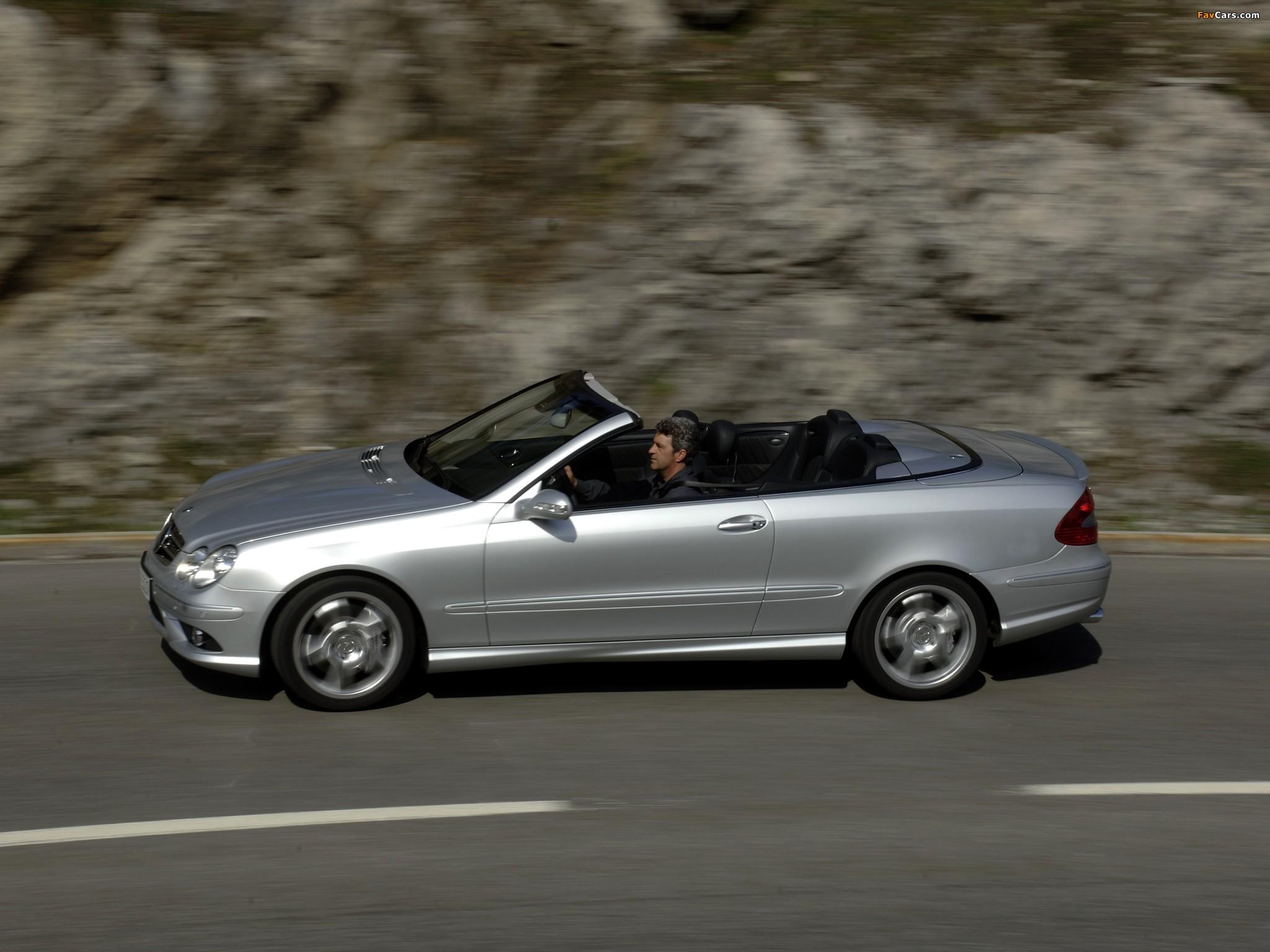 Mercedes-Benz CLK 55 AMG Cabrio (A209) 2005–06 photos (2048 x 1536)