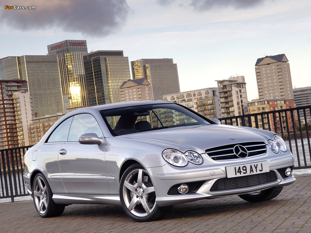Mercedes-Benz CLK 320 CDI AMG Sports Package UK-spec (C209) 2005–09 pictures (1024 x 768)