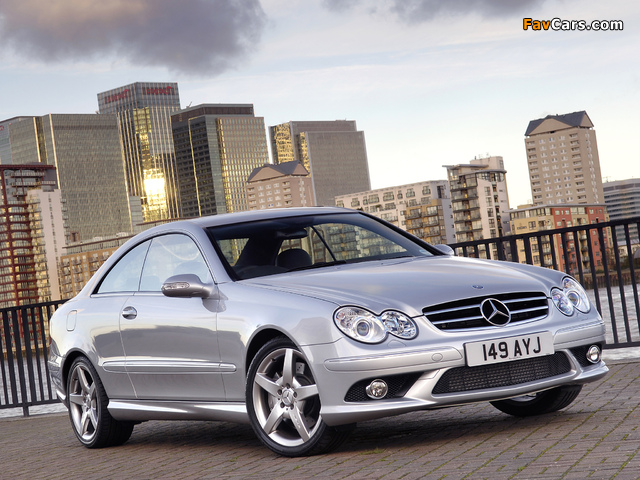 Mercedes-Benz CLK 320 CDI AMG Sports Package UK-spec (C209) 2005–09 pictures (640 x 480)
