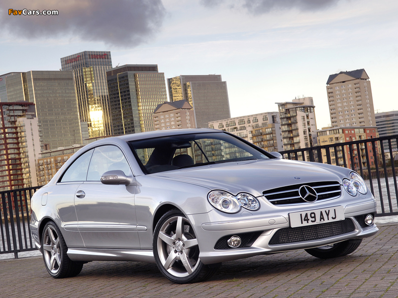 Mercedes-Benz CLK 320 CDI AMG Sports Package UK-spec (C209) 2005–09 pictures (800 x 600)
