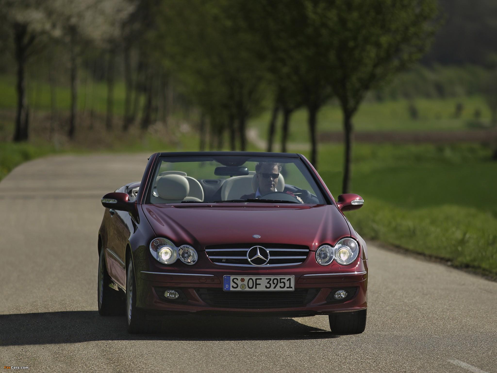 Mercedes-Benz CLK 320 CDI Cabrio (A209) 2005–10 wallpapers (2048 x 1536)