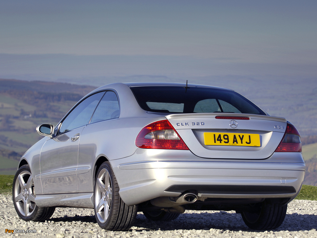 Mercedes-Benz CLK 320 CDI AMG Sports Package UK-spec (C209) 2005–09 wallpapers (1024 x 768)