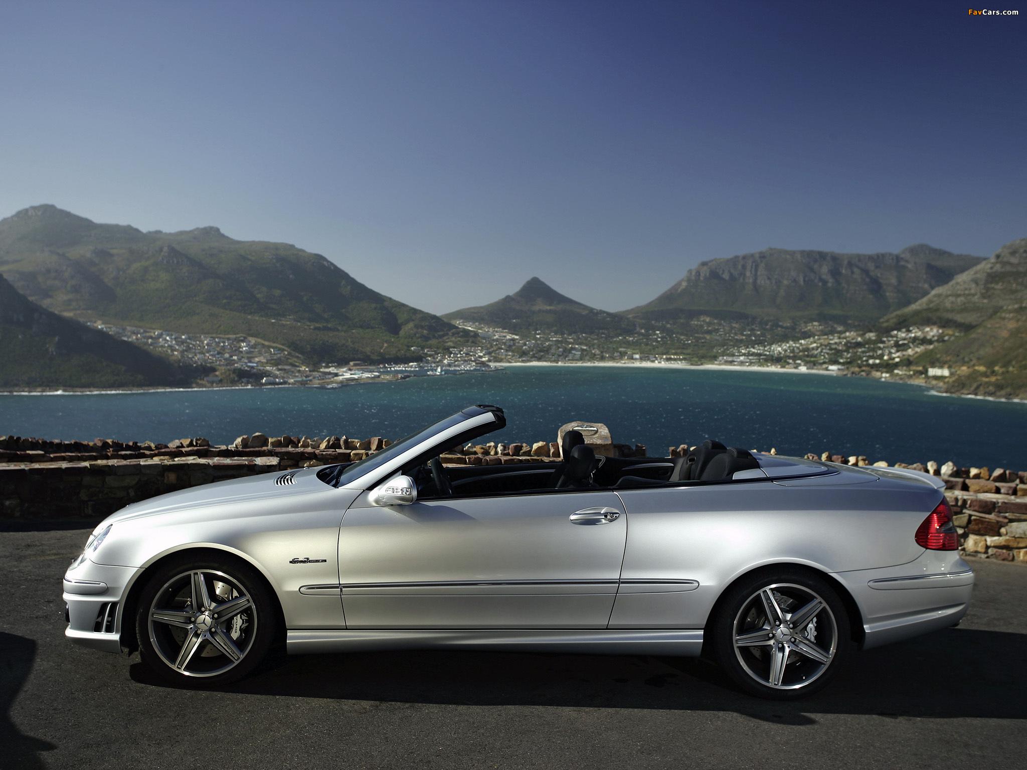 Mercedes-Benz CLK 63 AMG Cabrio (A209) 2006–10 images (2048 x 1536)