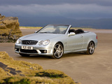 Mercedes-Benz CLK 63 AMG Cabrio UK-spec (A209) 2006–10 photos