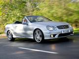 Mercedes-Benz CLK 63 AMG Cabrio UK-spec (A209) 2006–10 pictures