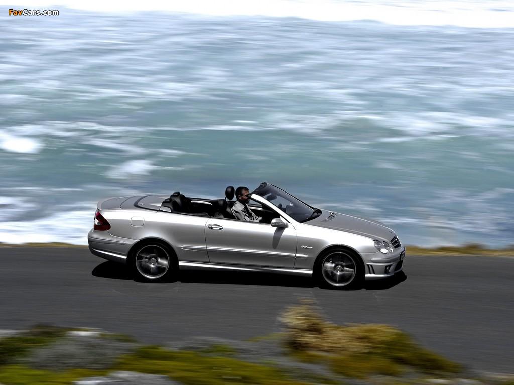 Mercedes-Benz CLK 63 AMG Cabrio (A209) 2006–10 wallpapers (1024 x 768)