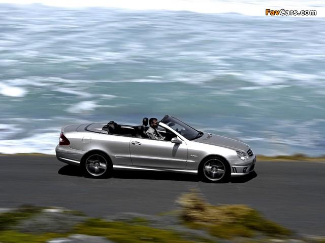 Mercedes-Benz CLK 63 AMG Cabrio (A209) 2006–10 wallpapers (640 x 480)