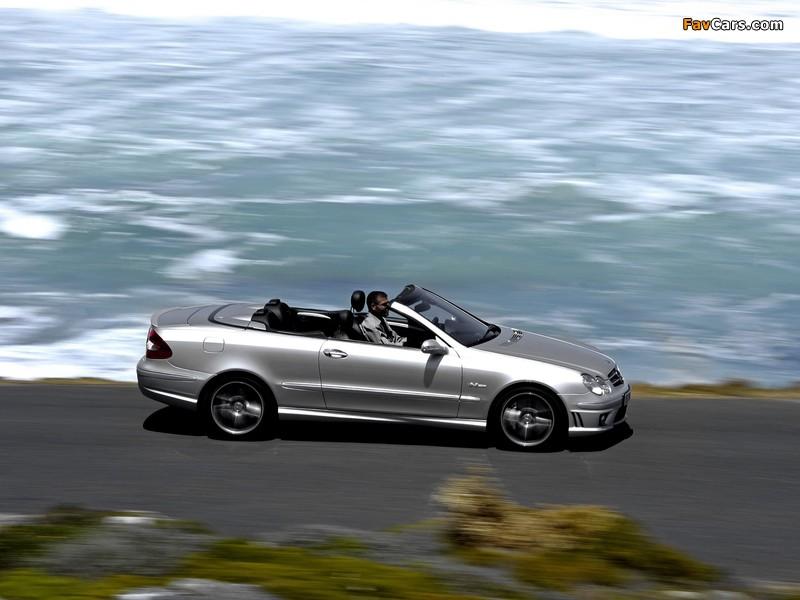 Mercedes-Benz CLK 63 AMG Cabrio (A209) 2006–10 wallpapers (800 x 600)