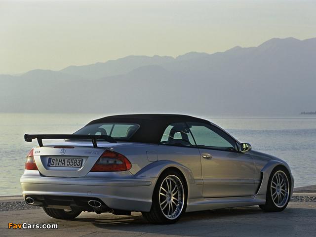 Mercedes-Benz CLK AMG DTM Cabrio (A209) 2006 wallpapers (640 x 480)