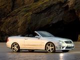 Mercedes-Benz CLK 63 AMG Cabrio UK-spec (A209) 2006–10 wallpapers