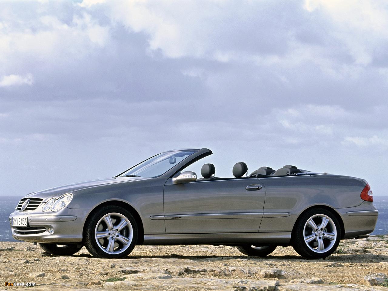 Photos of Mercedes-Benz CLK 500 Cabrio (A209) 2003–05 (1280 x 960)