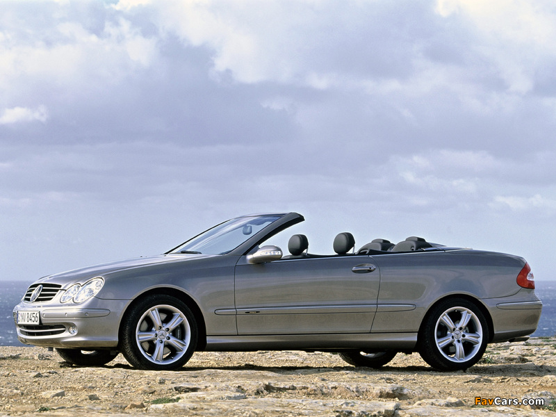 Photos of Mercedes-Benz CLK 500 Cabrio (A209) 2003–05 (800 x 600)
